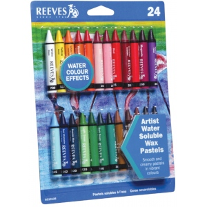 Reeves™ Water Soluble Wax Pastel 24-Color Set: Multi, Wax, (model 8210126), price per set