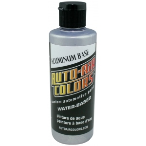 Auto-Air Colors™ Aluminum Medium Base Coat 4oz; Format: Bottle; Size: 4 oz; Texture: Medium; Type: Airbrush; (model 4102-04), price per each