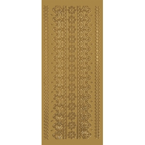 "Blue Hills Studio™ DesignLines™ Outline Stickers Gold #1; Color: Metallic; Size: 4"" x 9""; Type: Outline; (model BHS-DL001), price per pack"