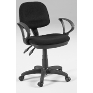 Martin Vesuvio Desk Height Seating Chair: Black