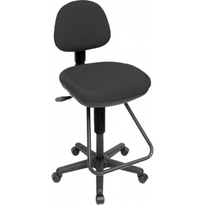 "Alvin® Studio Artist/Drafting Chair; Arm Rest Included: No; Color: Black/Gray; Foot Ring Included: Yes; Height Range: 24"" - 29"", Under 24""; Seat Material: Plastic; (model CH202), price per each"