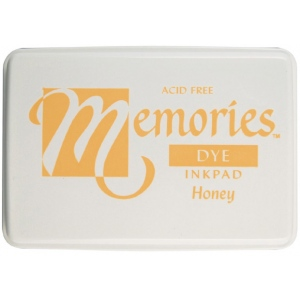 Memories™ Dye Ink Pad Honey: Yellow, Pad, Dye-Based, Full Size Rectangle, (model SSDMHO), price per each