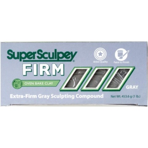 Sculpey® SuperSculpey® Firm Clay Gray; Color: Black/Gray; Size: 1 lb; Type: Firm; (model SS1SCULPT), price per each