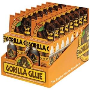 Gorilla Glue® Original Foaming Glue 2oz. Display: Bottle, 2 oz, Interior/Exterior, (model G50002D), price per each