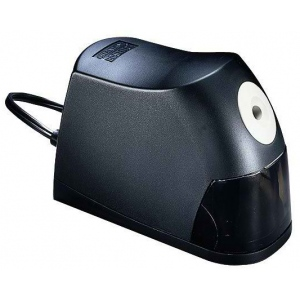 Stanley® Electric Pencil Sharpener; Color: Black/Gray; Holes: One; Material: Plastic; Type: Electric; (model 02695), price per each