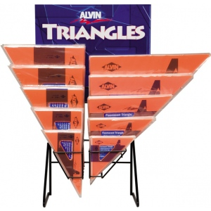 Alvin® FT-Series Triangles Display; Type: Triangle; (model 1145FTD), price per each