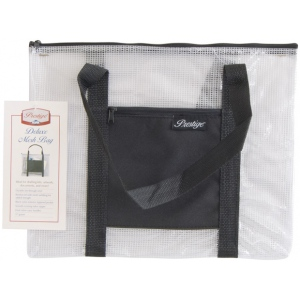 "Alvin® NBH Deluxe Series Deluxe Mesh Bag 10"" x 13"": Black/Gray, Clear, Mesh, Nylon, Vinyl, 10"" x 13"", (model NBH1013), price per each"