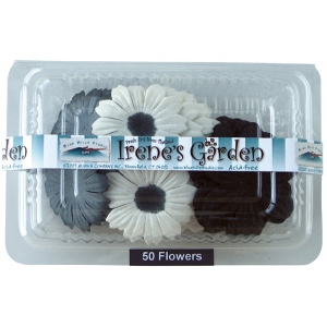 "Flower Pack Black/White/Gray; Color: Multi; Material: Paper; Size: 2""+; Type: Dimensional; (model BHS10754), price per pack"