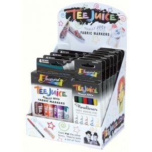 Jacquard Tee Juice Fabric Marker Set Display: 12 Assorted Marker