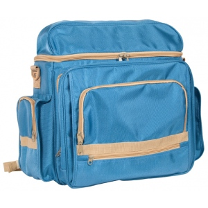 "Heritage Arts™ Traveler Artist Backpack Sand & Sea: Blue, Canvas, 6""d x 12""w x 15""h, (model PACK-B), price per each"