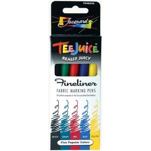 Jacquard Tee Juice™ Fabric Marker Set 3; Color: Multi; Format: Marker; Type: Fabric; (model PENBX05), price per set