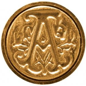 """Manuscript Initial Ceramic Mini Seal A; Shape: Round; Size: 3/4""""; (model MSH725A), price per each"""