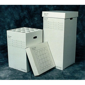 "Advanced Organizing Systems 16 Slot Manager Rolled Storage 37""h x 16""w x 16""l: 16 Slots, White/Ivory, Cardboard, 16""l x 16""w x 37""h, (model MGR-37), price per each"
