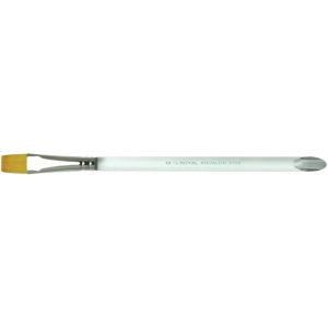 Royal & Langnickel® Aqualon Taklon Watercolor and Acrylic Brush Glaze Wash 3/4: Best, Short Handle, Taklon, Glaze, Acrylic, Watercolor, (model R2700-3/4), price per each