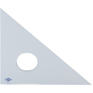 "Alvin® 4"" Clear Professional Acrylic Triangle 45°/90°: 45/90, Clear, Acrylic, 4"", Triangle, (model 131C-4), price per each"