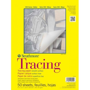 "Strathmore 300 Series Tape Bound Tracing Pad: 14"" x 17"", 25 lb., 50-Sheets"