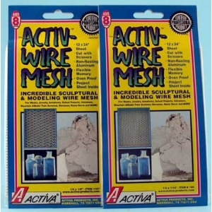 """12"""" x 24"""" Small Aluminum Wire with 1/8"""" x 1/16"""" Mesh, Pack of 6"""
