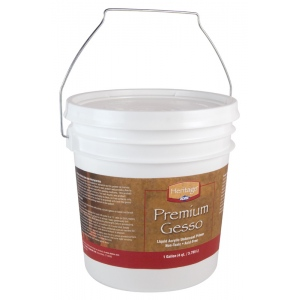 Heritage Arts™ Premium Gesso Medium Gallon; Format: Tub; Size: 1 gal; Type: Gesso; (model AHP-G), price per each