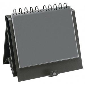 """Prestige™ Easel Binder 11"""" x 8.5"""": Black/Gray, Vinyl, 8 1/2"""" x 11"""", (model EB1401), price per each"""