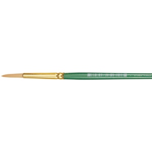 Princeton™ Good Synthetic Sable Watercolor and Acrylic Brush Round 12: Good, Short Handle, Synthetic Sable, Round, Acrylic, Watercolor, (model 4350R-12), price per each