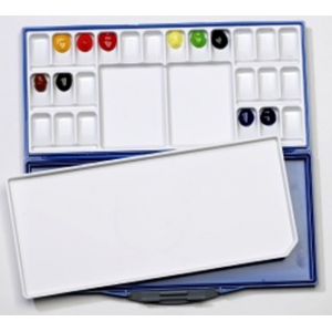 Mijello Airtight Leak Proof Fusian Watercolor: 24 Color Palette, Model # 92-WP3024B