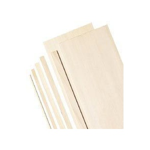 "Alvin® 6"" Bass Wood Sheets 1/16""; Format: Sheet; Quantity: 5 Sheets; Size: 6"" x 24""; Thickness: 1/16""; (model WS3165), price per 5 Sheets"