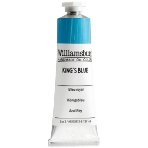 Williamsburg® Handmade Oil Paint 37ml King's Blue; Color: Blue; Format: Tube; Size: 37 ml; Type: Oil; (model 6000813-9), price per tube