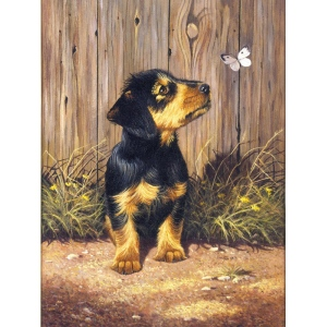 "Royal & Langnickel® Painting by Numbers™ 8 3/4 x 11 3/8 Junior Small Set Dachshund Pup; Board Size: 8 3/4"" x 11 3/8""; (model PJS51), price per set"