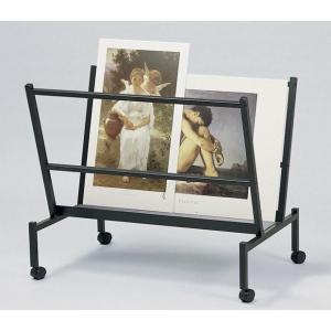 "Heritage Arts™ Large 38"" Wide Poster & Print Rack: 100 Prints, Black/Gray, Steel, 32""d x 25""w x 38""h, Display, (model PHR100-BK), price per each"