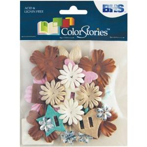 "Blue Hills Studio™ ColorStories™ Handmade Paper Potpourri Brown: Brown, Paper, 2 1/4"", Dimensional, (model BHS10610), price per each"