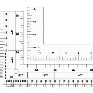 """Lance® 24"""" Standard Aluminum L-Square: Metallic, Aluminum, 14"""" x 24"""", L-Square, (model LS024), price per each"""