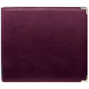 "Pioneer® 12"" x 12"" 3-Ring Scrapbook Binder Burgundy Oxford; Color: Red/Pink; Material: Leatherette; Size: 12"" x 12""; (model TM12BUOX), price per each"