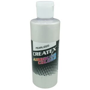 Createx™ Airbrush Paint 4oz Pearlescent White; Color: White/Ivory; Format: Bottle; Size: 4 oz; Type: Airbrush; (model 5310-04), price per each