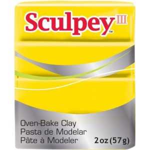 Sculpey® III Polymer Clay Yellow; Color: Yellow; Format: Bar; Material: Polymer; Size: 2 oz; (model S302072), price per each