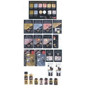 Mona Lisa  Deluxe Metal Leaf Planogram Assortment: 90 Various Pieces