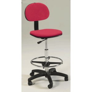 Martin Stiletto Drafting Height Seating Chair: Red