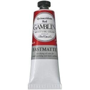 Gamblin Artists' Grade FastMatte Alkyd Oil Color 37ml Quinacridone Red; Color: Red/Pink; Format: Tube; Size: 37 ml; Type: Alkyd Oil; (model GF1590), price per tube