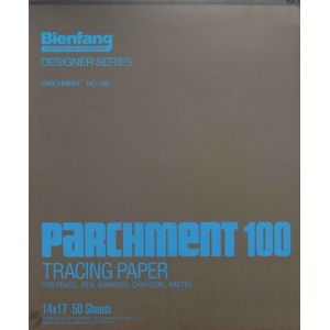 "Bienfang® 14"" x 17"" Parchment Tracing Pad; Format: Pad; Quantity: 50 Sheets; Size: 14"" x 17""; Type: Tracing; (model 240142), price per 50 Sheets pad"