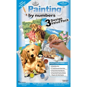 "Royal & Langnickel® Painting by Numbers™ 8 7/8 x 11 3/4 Junior Value Pack Dogs; Board Size: 8 7/8"" x 11 3/4""; (model PBN-SET43), price per set"
