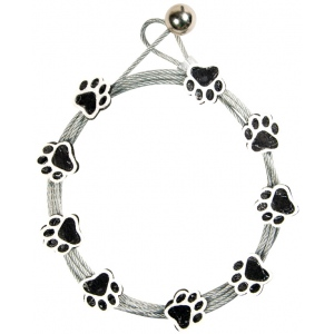 """Mishu Mighty Magnet Photo Cable Black Paw Prints; Color: Black/Gray; Length: 57""""; Shape: Paw Print; Type: Cable; (model M907), price per each"""