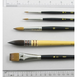 Watercolor Set of 5 Art Brushes