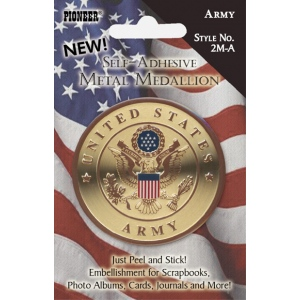 Pioneer Self-Adhesive Metal Military Medallion: Army