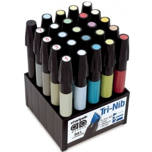 Chartpak® AD™ Marker 25-Color Landscape Set: Multi, Xylene-Based, Fine Nib, (model SETL), price per set