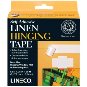 "Lineco® Acrylic Self-Adhesive Linen Tape; Type: Mounting; Width: 1 1/4""; (model L5331015), price per each"