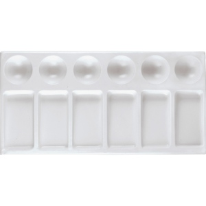 "Heritage Arts™ Rectangular Plastic Palette Tray 9 x 4 3/4: Plastic, Rectangle, 4 3/4"" x 9"", (model CW162), price per each"