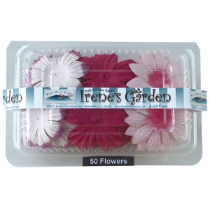 "Blue Hills Studio™ Irene's Garden™ Box O'Blooms Flower Pack Pink/Hot Pink: Red/Pink, Paper, 2""+, Dimensional, (model BHS10757), price per pack"