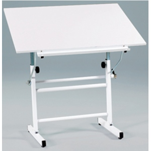 "Martin Bel Aire Neuvo Table Base with Martin White Top, 30"" x 42"": Model # U-DS3100C"