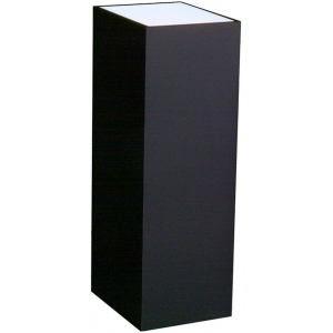 "Lighted Black Laminate Pedestal: 11 1/2"" x 11 1/2"" Base, 24"" Height"