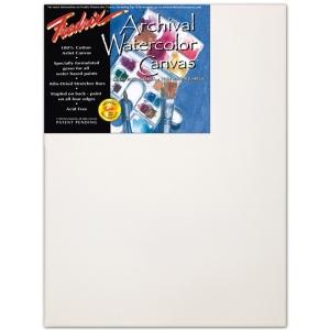"Fredrix 18"" x 24"" Watercolor Stretched Canvas: Standard Bar 11/16"" x 1 9/16"""