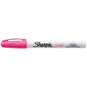 Sharpie® Oil Paint Marker Fine Pink: Red/Pink, Paint, Fine Nib, (model SN35540), price per each